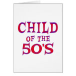 Child of 50s cards