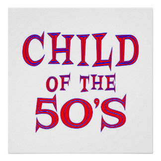 Child of 50s poster
