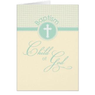 Child of God Baptism, Gender Neutral Green Card