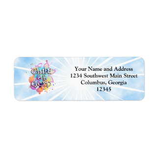Child of God, Pastel Return Address Label