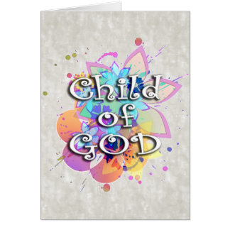 Child of God Rainbow Watercolor Card