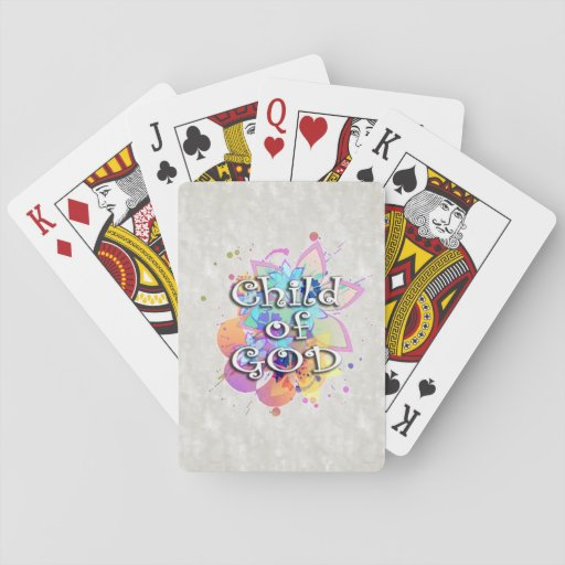 Child of God Rainbow Watercolor Poker Cards