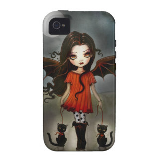 Child of Halloween Gothic Vampire with Cats Case For The iPhone 4