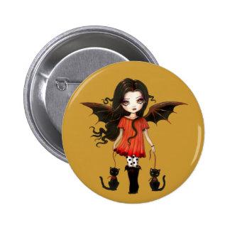 Child of Halloween Little Vampire Button