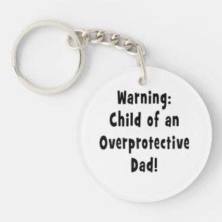 child of overprotective dad black acrylic keychains