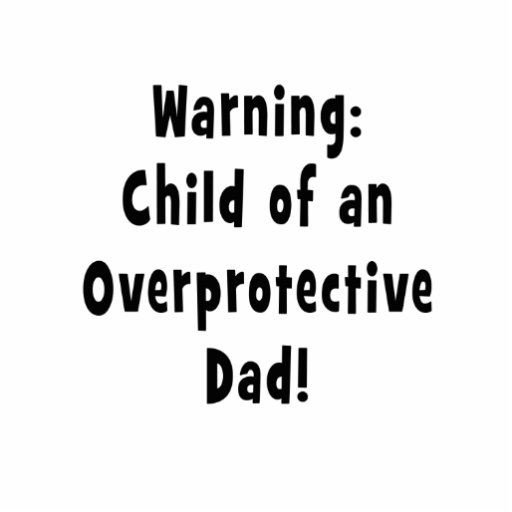 child of overprotective dad black photo cutout