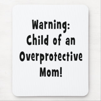 child of overprotective mom black mouse pad