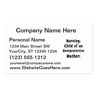 child of overprotective mother black.png business card