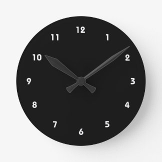 child of overprotective parent black round clock