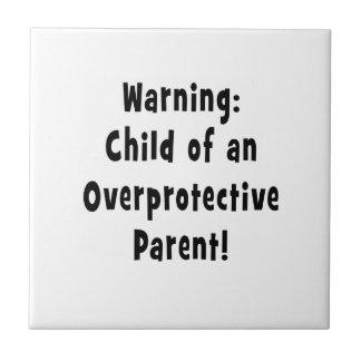 child of overprotective parent black tile