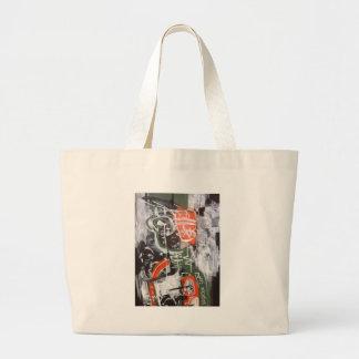 child of sludge by sludge large tote bag