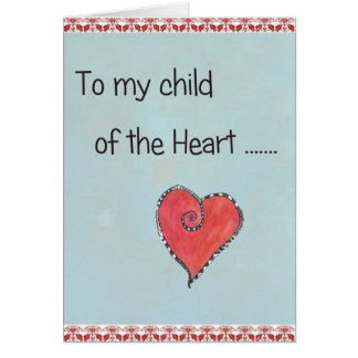 Child of the heart Greeting card