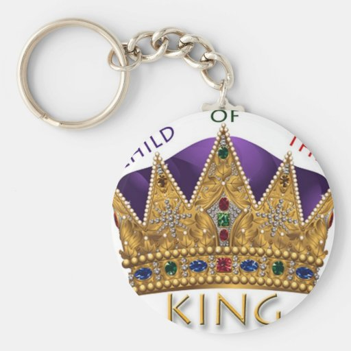 CHILD of the KING Basic Round Button Keychain