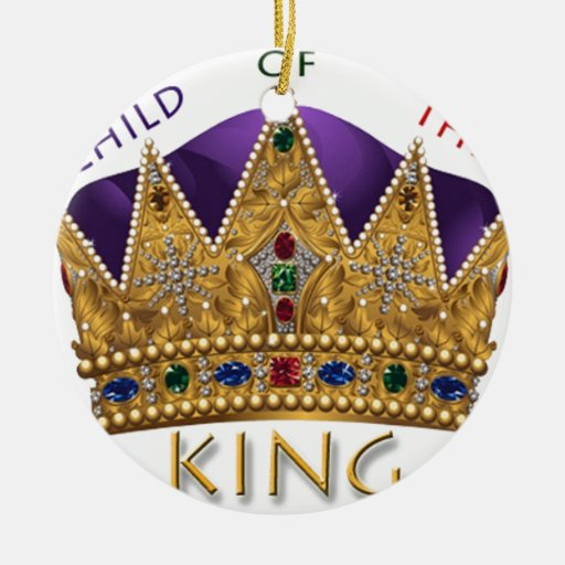 Child Of The King Crown Double Sided Ceramic Round