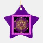 """Child of the Universe"" - Desiderata Ornament.2 Double-Sided Star Ceramic Christmas Ornament"