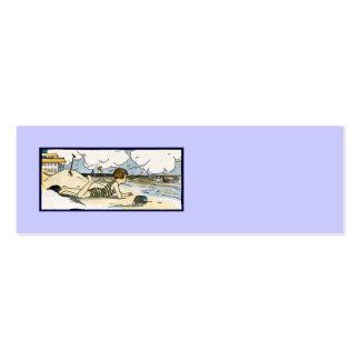 Child on Beach Vintage Art Business Cards