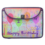 Child or Kid Birthday Four Years Happy Birthday! Sleeve For MacBook Pro