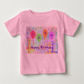 Child or Kid Birthday Four Years Happy Birthday! Tee Shirt
