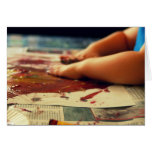 child painting hands cards