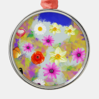 Child party in the garden metal ornament