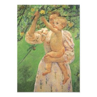 Child Picking Fruit by Cassatt Vintage Baby Shower Card