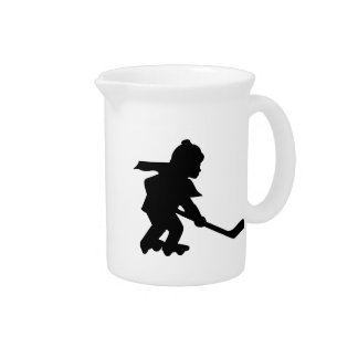 Child Playing Roller Hockey Beverage Pitchers