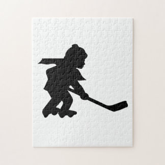 Child Playing Roller Hockey Jigsaw Puzzle