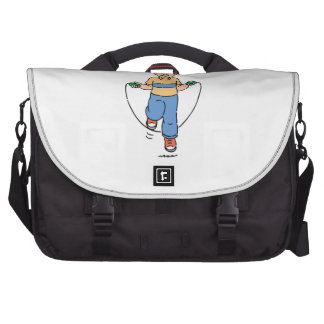Child Playing with a Jump Rope Laptop Commuter Bag