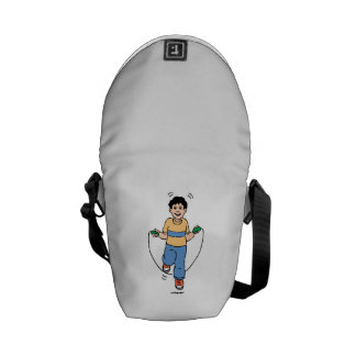 Child Playing with a Jump Rope Messenger Bag