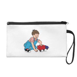 Child Playing with Toy Truck Wristlet
