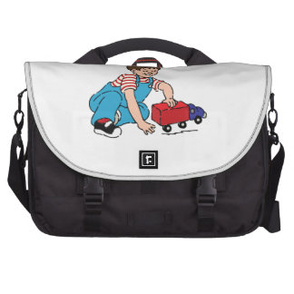 Child Playing with Toy Truck Laptop Commuter Bag