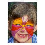 Child Portrait with Face Paint (1) Cards