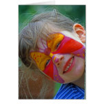 Child Portrait with Face Paint (2) Greeting Cards