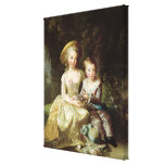 Child portraits of Marie-Therese-Charlotte Gallery Wrapped Canvas