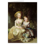 Child portraits of Marie-Therese-Charlotte Card