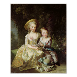 Child portraits of Marie-Therese-Charlotte Poster