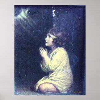 Child praying poster