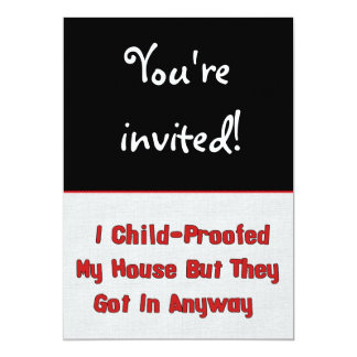 Child-Proofing Failure Card