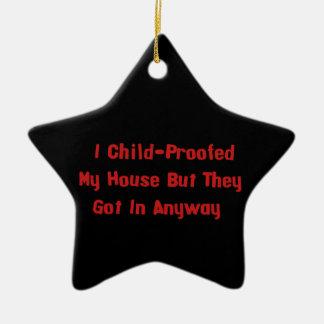 Child-Proofing Failure Ceramic Ornament