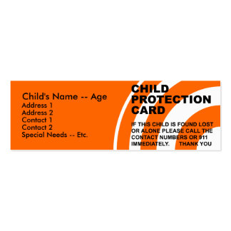 Child Protection Card (1) Business Cards