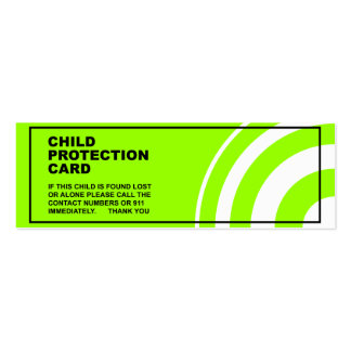 Child Protection / Safety Business Cards