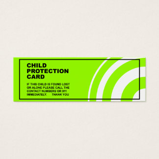 Child Protection / Safety Mini Business Card