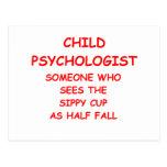 child psychologist postcard