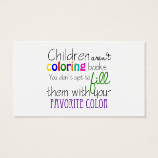 Child Psychologist Text Design Business Card