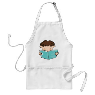 Child reading a book adult apron
