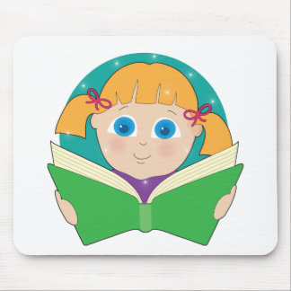 Child Reading Mouse Pad