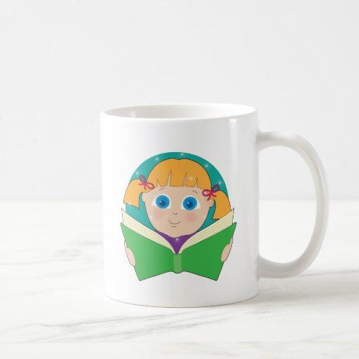 Child Reading Coffee Mug