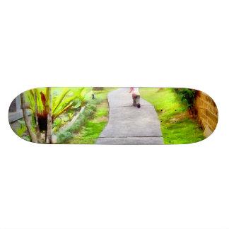 Child running on track skate board