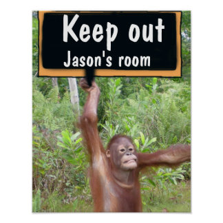 Child s Bedroom Keep Out Privacy SIgn Print