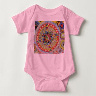 child´s drawing baby bodysuit